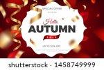 autumn sale banner background... | Shutterstock .eps vector #1458749999