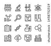 chemistry line icons set.... | Shutterstock .eps vector #1458752519