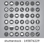 set of buttons icons for  ui ... | Shutterstock .eps vector #145876229