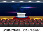 chairs and table on the stage... | Shutterstock .eps vector #1458786830