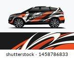 company branding car decal wrap ... | Shutterstock .eps vector #1458786833