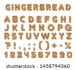 set of vector gingerbread dark... | Shutterstock .eps vector #1458794360