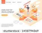 vector design of landing page...