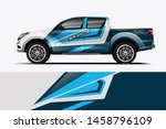 truck wrap design vector.... | Shutterstock .eps vector #1458796109