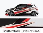 car wrap graphic racing... | Shutterstock .eps vector #1458798566