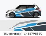 car wrap graphic racing... | Shutterstock .eps vector #1458798590