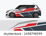car wrap graphic racing... | Shutterstock .eps vector #1458798599