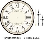 vintage clock face template...