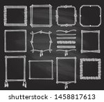simple doodle frames and...   Shutterstock .eps vector #1458817613
