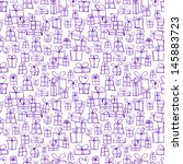 seamless texture with violet ... | Shutterstock .eps vector #145883723