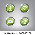 set of glossy icons   buttons...