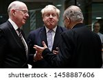 Small photo of Secretary of State for Foreign Affairs of UK, Boris Johnson attends in an European Union Foreign Affairs Council meeting in Brussels, Belgium on Jan. 16, 2017