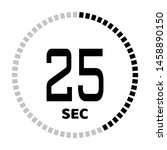 the 25 second countdown timer...