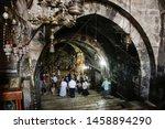 Tourists And Pilgrims Inside...