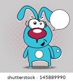 vector illustration of  funny... | Shutterstock .eps vector #145889990