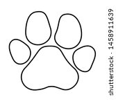paw prints icon in flat style....