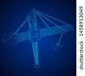 tower construction building... | Shutterstock .eps vector #1458913049