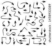 black filigree arrows. hand... | Shutterstock .eps vector #1458933389