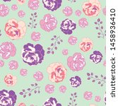 roses seamless pattern print...   Shutterstock . vector #1458936410