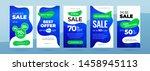 set of dynamic modern fluid... | Shutterstock .eps vector #1458945113