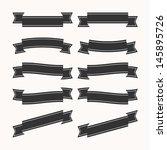 old ribbon banner   eps10... | Shutterstock .eps vector #145895726