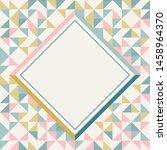 Square Frame In Retro Colors....