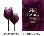 illustration of two wine... | Shutterstock .eps vector #1458980789