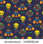 decorative pattern | Shutterstock .eps vector #145898144