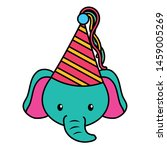 birthday celebration cute... | Shutterstock .eps vector #1459005269