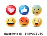 emoji feeling faces vector.... | Shutterstock .eps vector #1459035050