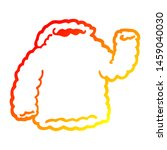 warm gradient line drawing of a ... | Shutterstock . vector #1459040030