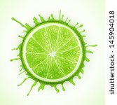 fresh lime with splash eps10... | Shutterstock .eps vector #145904018