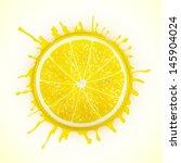 fresh lemon with splash eps10... | Shutterstock .eps vector #145904024
