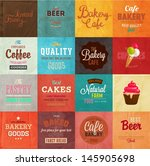 set of retro bakery label cards ... | Shutterstock .eps vector #145905698