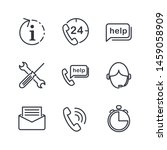 technical support line icons... | Shutterstock .eps vector #1459058909