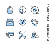 technical support line icons... | Shutterstock .eps vector #1459058933