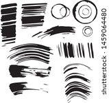 set of imprints of ink. black... | Shutterstock .eps vector #1459064480