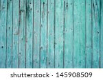 Old Green Plank Fence With Nails