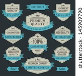 vintage labels or badges and... | Shutterstock .eps vector #145909790