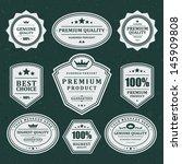 vintage labels set. vector...   Shutterstock .eps vector #145909808