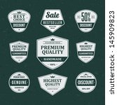vintage labels set. vector... | Shutterstock .eps vector #145909823