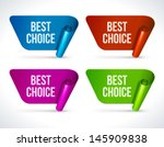 vector best choice labels set.... | Shutterstock .eps vector #145909838