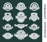 vintage labels set. vector... | Shutterstock .eps vector #145909844