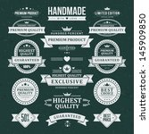 vintage labels set. vector... | Shutterstock .eps vector #145909850