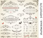 vector set of ornate... | Shutterstock .eps vector #1459107170