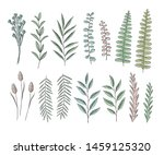 vector set of floral elements ... | Shutterstock .eps vector #1459125320