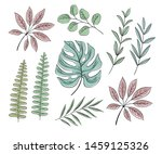 vector set of floral elements ... | Shutterstock .eps vector #1459125326