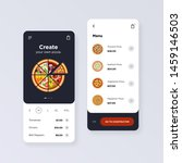 pizza online shop mobile vector ...