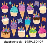 cute vector collection of... | Shutterstock .eps vector #1459150409