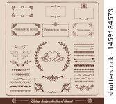 brown vintage calligraphic... | Shutterstock .eps vector #1459184573